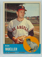 1963 Topps Baseball 541 Ron Moeller High Number Los Angeles Angels Excellent