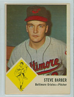 1963 Fleer Baseball 1 Steve Barber Baltimore Orioles Very Good