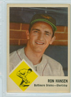 1963 Fleer Baseball 2 Ron Hansen Baltimore Orioles Excellent to Excellent Plus