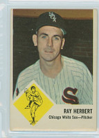 1963 Fleer Baseball 9 Ray Herbert Detroit Tigers Very Good