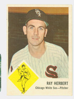 1963 Fleer Baseball 9 Ray Herbert Chicago White Sox Very Good to Excellent