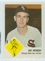 1963 Fleer Baseball 9 Ray Herbert Chicago White Sox Near-Mint