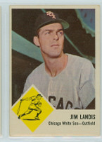 1963 Fleer Baseball 10 Jim Landis Chicago White Sox Very Good to Excellent