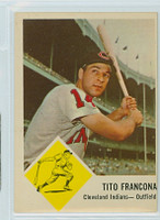 1963 Fleer Baseball 12 Tito Francona Cleveland Indians Very Good