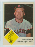 1963 Fleer Baseball 19 Albie Pearson Los Angeles Angels Excellent to Mint