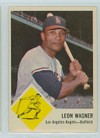 1963 Fleer Baseball 21 Leon Wagner Los Angeles Angels Excellent to Mint