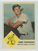 1963 Fleer Baseball 25 Bobby Richardson New York Yankees Excellent to Mint