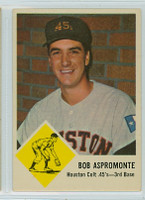 1963 Fleer Baseball 37 Bob Aspromonte Houston Colts Very Good to Excellent