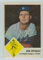 1963 Fleer Baseball 41 Don Drysdale Los Angeles Dodgers Very Good