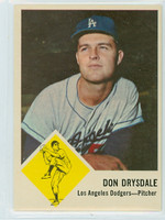 1963 Fleer Baseball 41 Don Drysdale Los Angeles Dodgers Near-Mint
