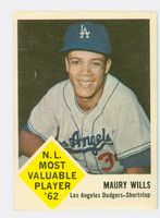 1963 Fleer Baseball 43 Maury Wills ROOKIE Los Angeles Dodgers Very Good
