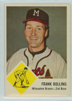 1963 Fleer Baseball 44 Frank Bolling Milwaukee Braves Excellent to Mint