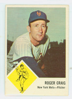 1963 Fleer Baseball 47 Roger Craig New York Mets Very Good