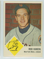 1963 Fleer Baseball 49 Rod Kanehl New York Mets Excellent to Mint