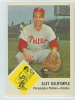 1963 Fleer Baseball 52 Clay Dalrymple Philadelphia Phillies Excellent to Excellent Plus