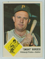 1963 Fleer Baseball 55 Smoky Burgess Pittsburgh Pirates Excellent to Mint