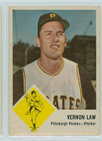 1963 Fleer Baseball 58 Vernon Law Pittsburgh Pirates Very Good