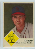 1963 Fleer Baseball 60 Ken Boyer St. Louis Cardinals Good to Very Good
