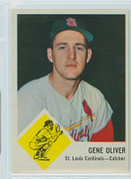 1963 Fleer Baseball 62 Gene Oliver St. Louis Cardinals Excellent