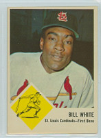 1963 Fleer Baseball 63 Bill White St. Louis Cardinals Very Good to Excellent
