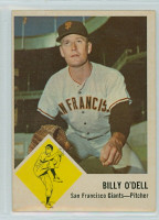 1963 Fleer Baseball 66 Billy O' Dell San Francisco Giants Very Good to Excellent