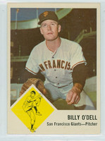1963 Fleer Baseball 66 Billy O' Dell San Francisco Giants Near-Mint