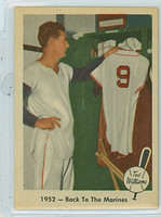 1959 Fleer Ted Williams 44 Back to Marines Excellent