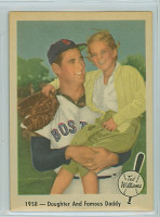 1959 Fleer Ted Williams 64 Daughter and Daddy Near-Mint to Mint