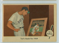 1959 Fleer Ted Williams 80 Goals for 1959 Excellent to Mint