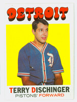 1971 Topps Basketball 8 Terry Dischinger Detroit Pistons Excellent to Excellent Plus