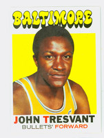 1971 Topps Basketball 37 John Tresvant Baltimore Bullets Excellent to Excellent Plus