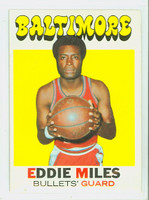 1971 Topps Basketball 44 Eddie Miles Baltimore Bullets Excellent to Mint