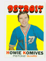 1971 Topps Basketball 53 Howie Komives Detroit Pistons Near-Mint Plus