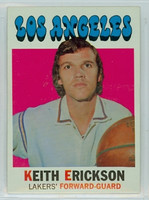 1971 Topps Basketball 61 Keith Erickson Los Angeles Lakers Near-Mint