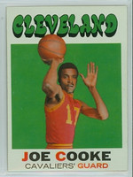 1971 Topps Basketball 62 Joe Cooke Cleveland Cavaliers Excellent to Mint