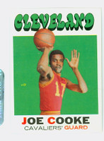 1971 Topps Basketball 62 Joe Cooke Cleveland Cavaliers Near-Mint Plus