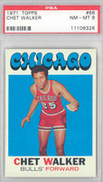 1971 Topps Basketball 66 Chet Walker Chicago Bulls PSA 8 Near Mint to Mint