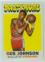 1971 Topps Basketball 77 Gus Johnson Baltimore Bullets Excellent to Mint