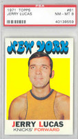1971 Topps Basketball 81 Jerry Lucas New York Knicks PSA 8 Near Mint to Mint