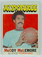 1971 Topps Basketball 83 McCoy McLemore Milwaukee Bucks Near-Mint