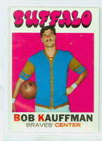 1971 Topps Basketball 84 Bob Kauffman Buffalo Braves Excellent to Mint