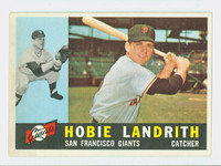 1960 Topps Baseball 42 Hobie Landrith San Francisco Giants Excellent to Excellent Plus