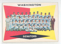 1960 Topps Baseball 43 Senators Team Excellent to Mint