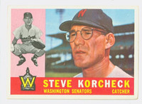 1960 Topps Baseball 56 Steve Korcheck Washington Senators Excellent to Excellent Plus