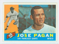 1960 Topps Baseball 67 Jose Pagan ROOKIE San Francisco Giants Excellent to Excellent Plus