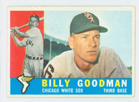1960 Topps Baseball 69 Billy Goodman Chicago White Sox Excellent to Excellent Plus