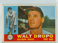 1960 Topps Baseball 79 Walt Dropo Baltimore Orioles Excellent to Mint