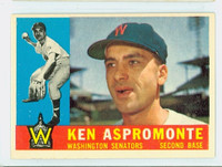 1960 Topps Baseball 114 Ken Aspromonte Washington Senators Excellent to Excellent Plus
