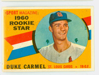 1960 Topps Baseball 120 Duke Carmel St. Louis Cardinals Near-Mint