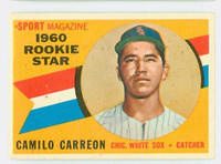 1960 Topps Baseball 121 Camillo Carreon Chicago White Sox Excellent to Excellent Plus